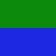gruen, blau